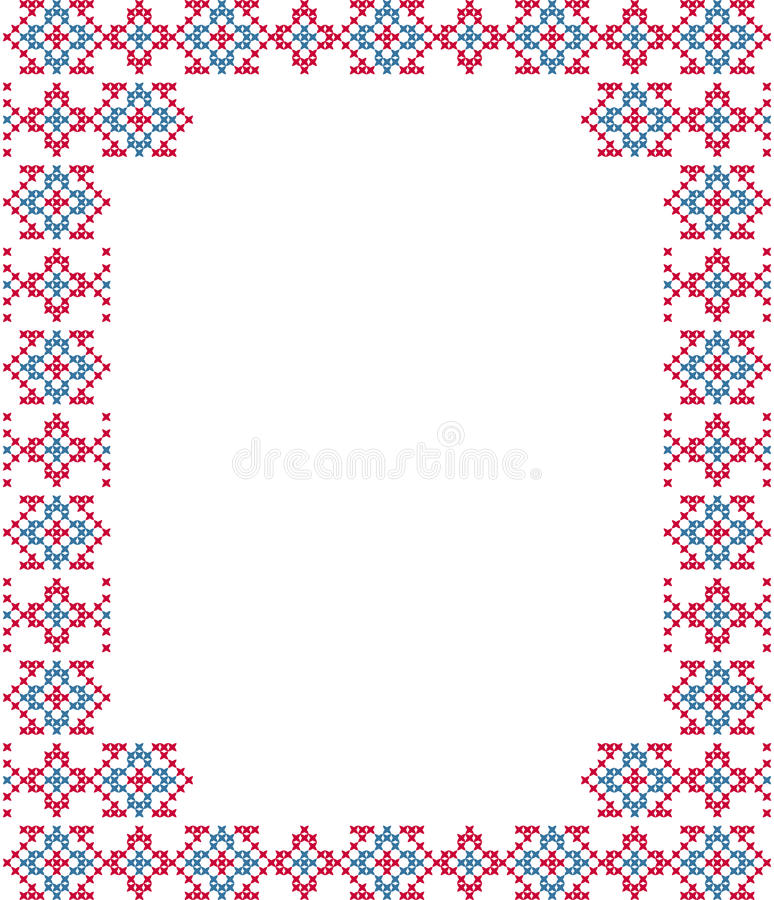 Рамка, синь, розовые картины на холсте стоковое фото rf
