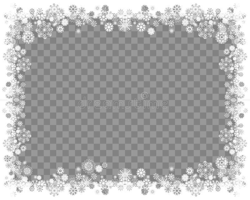 Рамка снега на прозрачной предпосылке бесплатная иллюстрация