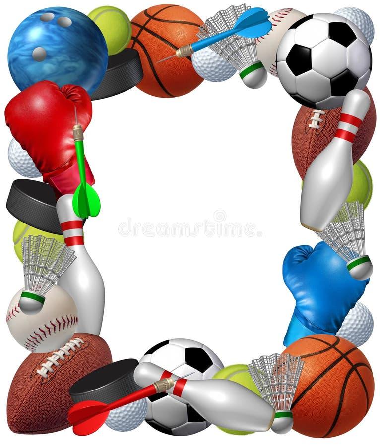 Рамка спортов иллюстрация штока