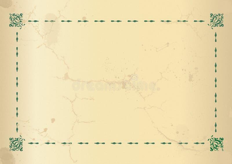 рамка старая иллюстрация вектора