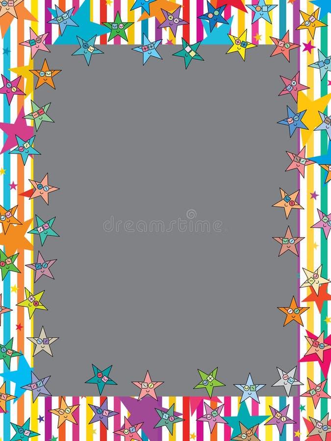 Рамка стекел носки звезды бесплатная иллюстрация