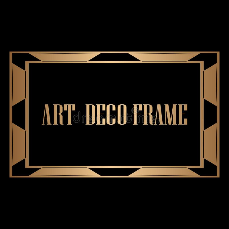 рамка стиля Арт Деко бесплатная иллюстрация