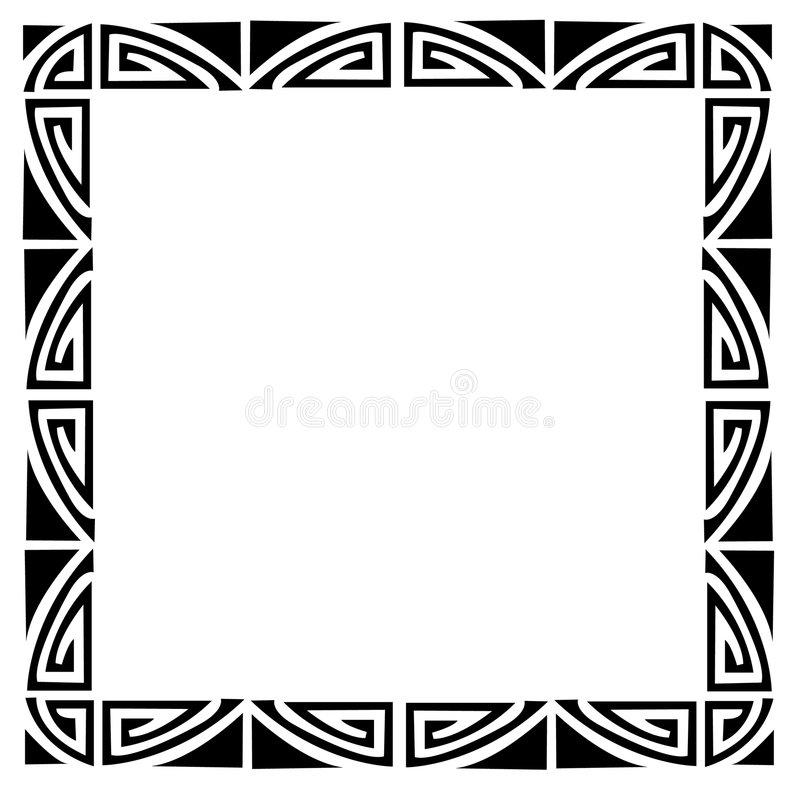 рамка стиля Арт Деко иллюстрация штока