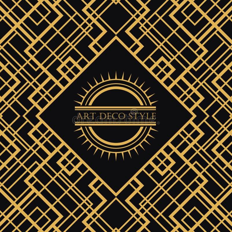 Рамка стиля Арт Деко винтажная декоративная Ретро temp вектора дизайна карточки иллюстрация штока