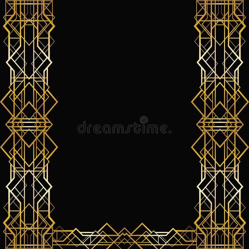 Рамка стиля Арт Деко геометрическая иллюстрация вектора