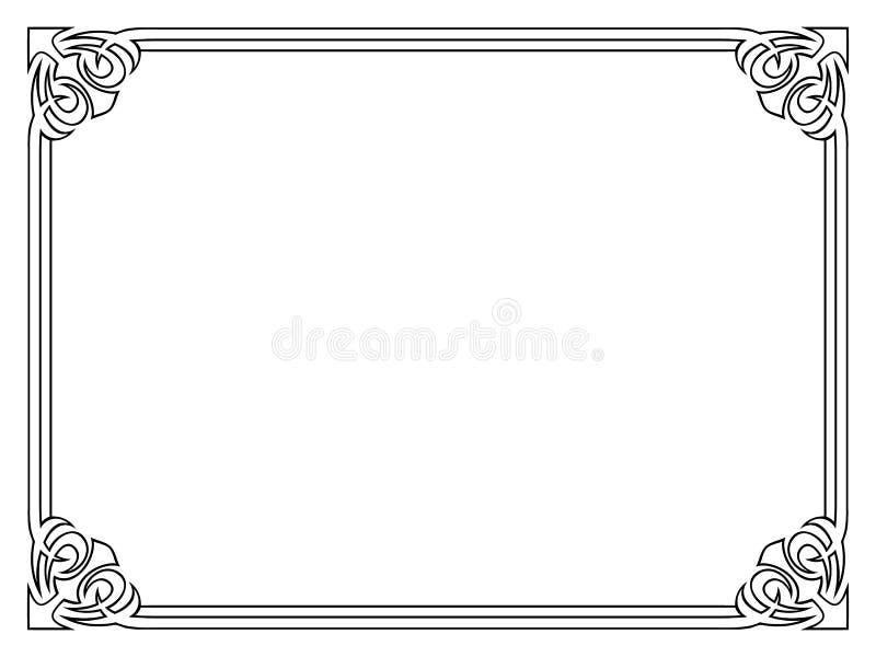 Рамка стиля Арт Деко черная орнаментальная декоративная бесплатная иллюстрация