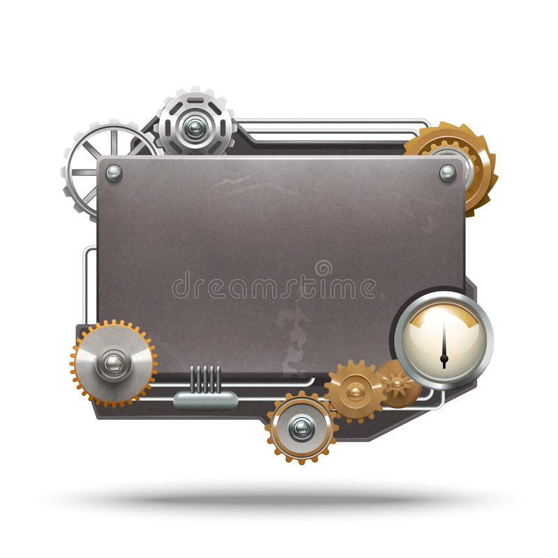 Рамка стиля Steampunk иллюстрация вектора