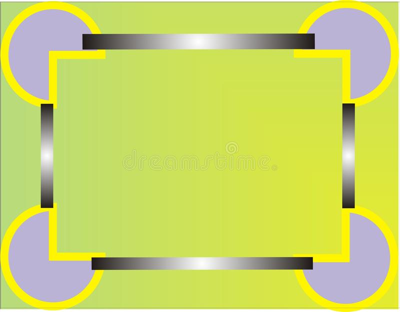 Рамка с зеленой предпосылкой стоковое фото