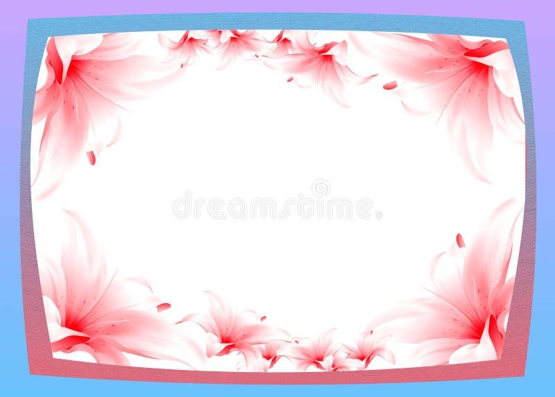 Рамка с лилией стоковые фотографии rf