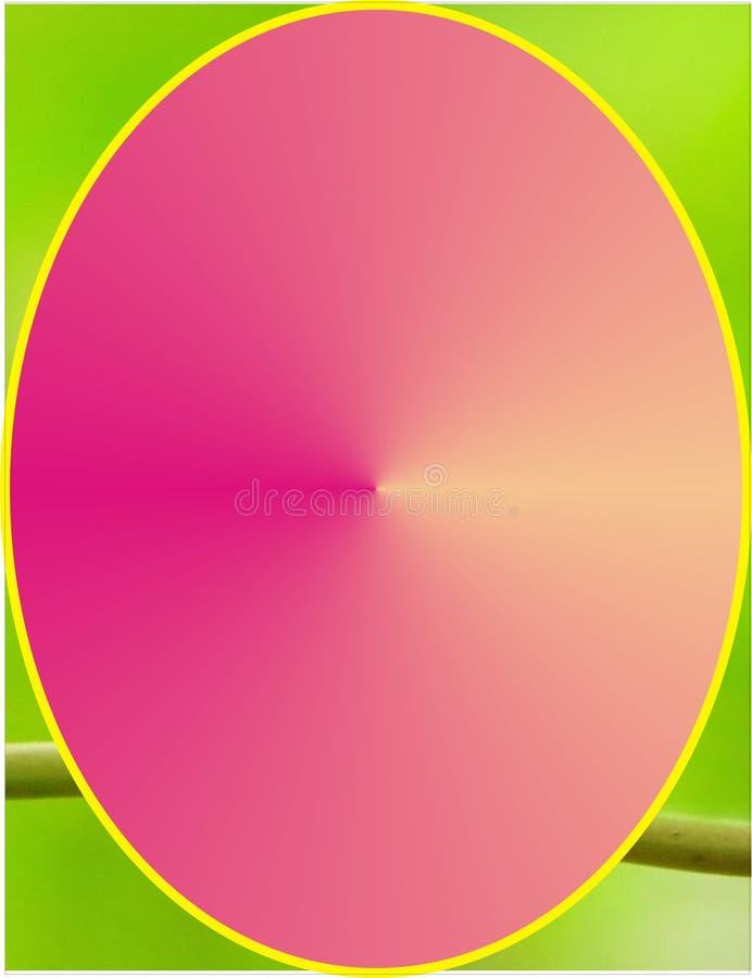 Рамка с кругом дизайна яичка в середине стоковое изображение rf