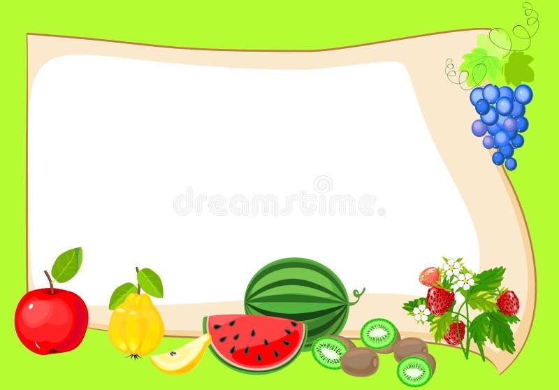 Рамка с плодоовощами бесплатная иллюстрация