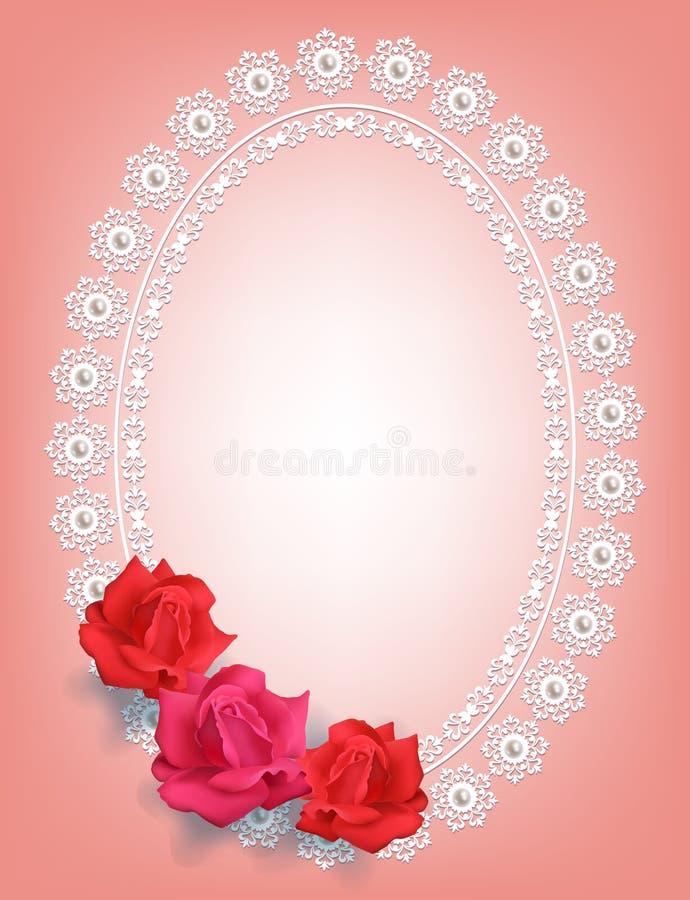 Рамка с розами иллюстрация штока