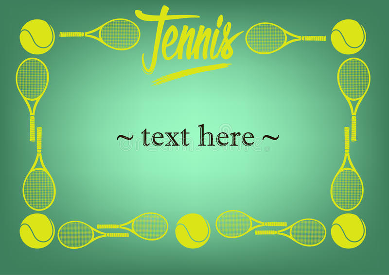 Рамка с теннисом иллюстрация штока