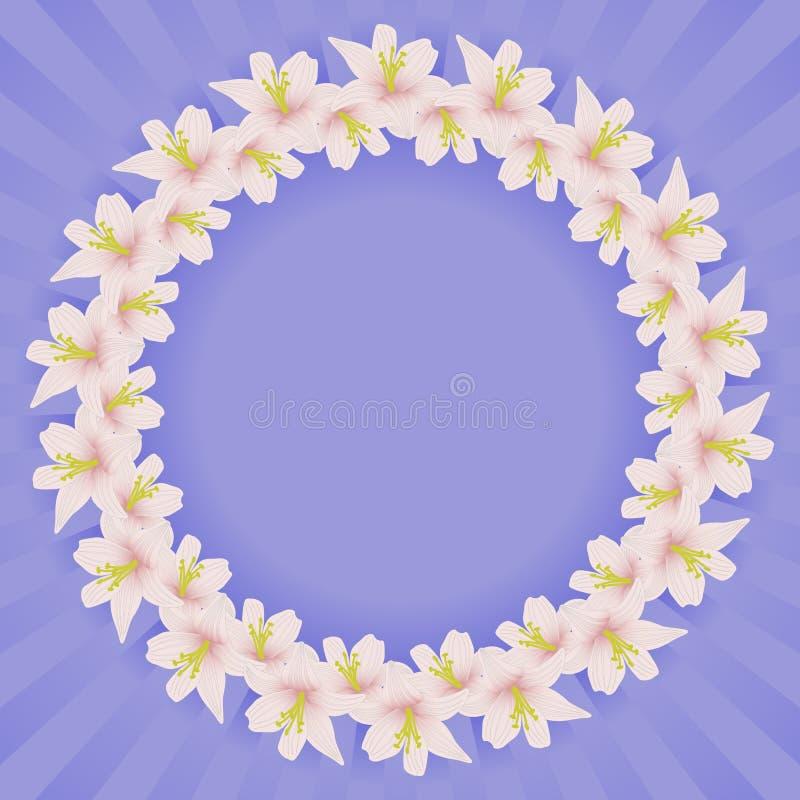 Рамка с цветками Стоковая Фотография