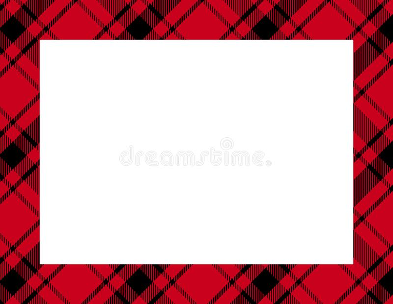 Рамка тартана шотландки иллюстрация штока