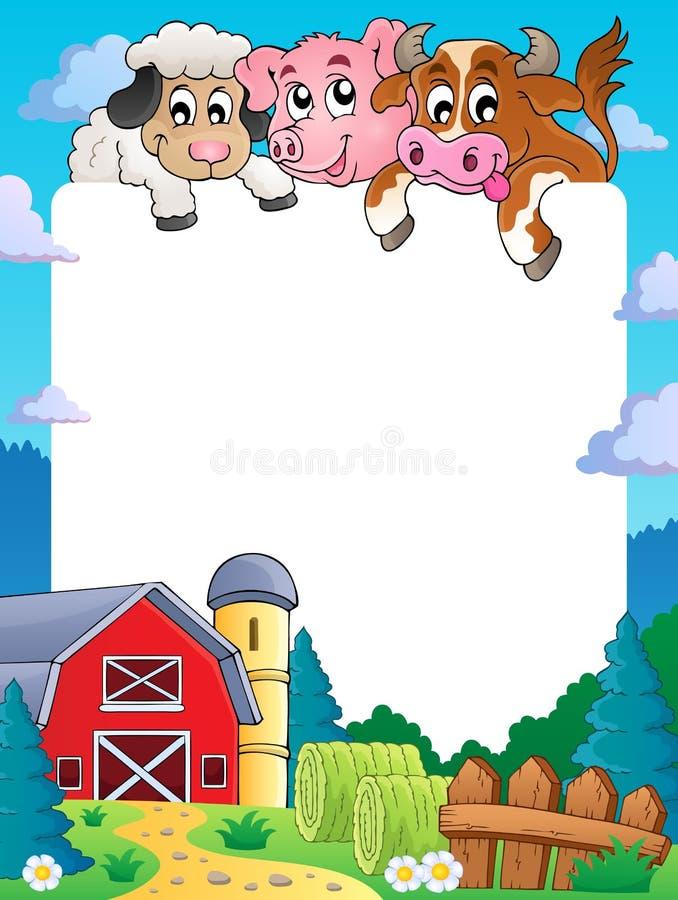 Рамка 4 темы фермы иллюстрация штока