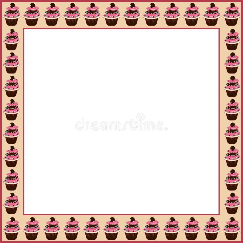 Рамка торта иллюстрация штока