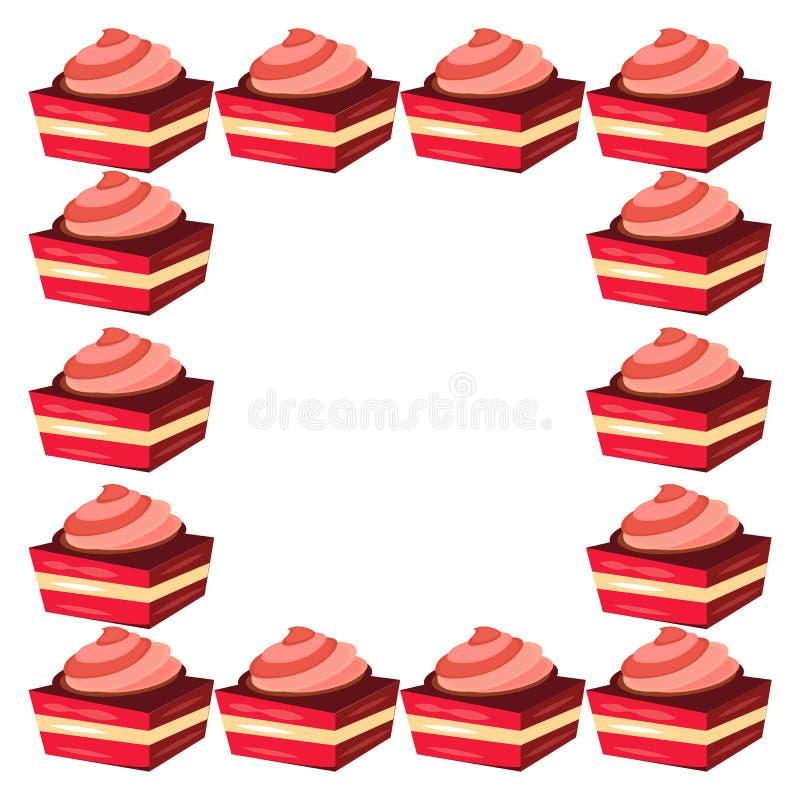 Рамка торта иллюстрация вектора