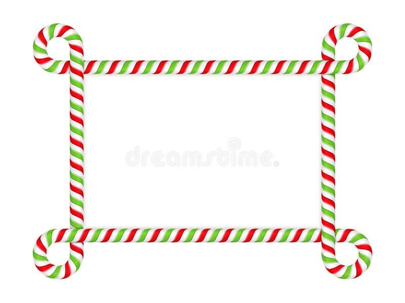 Рамка тросточки конфеты иллюстрация штока