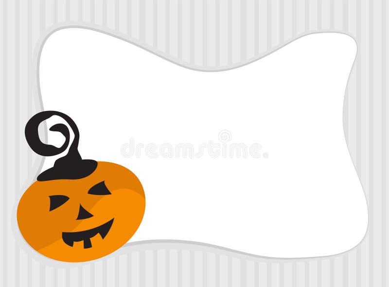 Рамка тыквы хеллоуина с космосом экземпляра иллюстрация штока