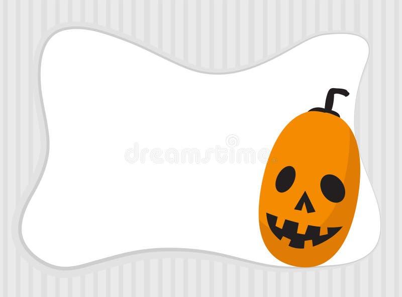 Рамка тыквы хеллоуина с космосом экземпляра бесплатная иллюстрация