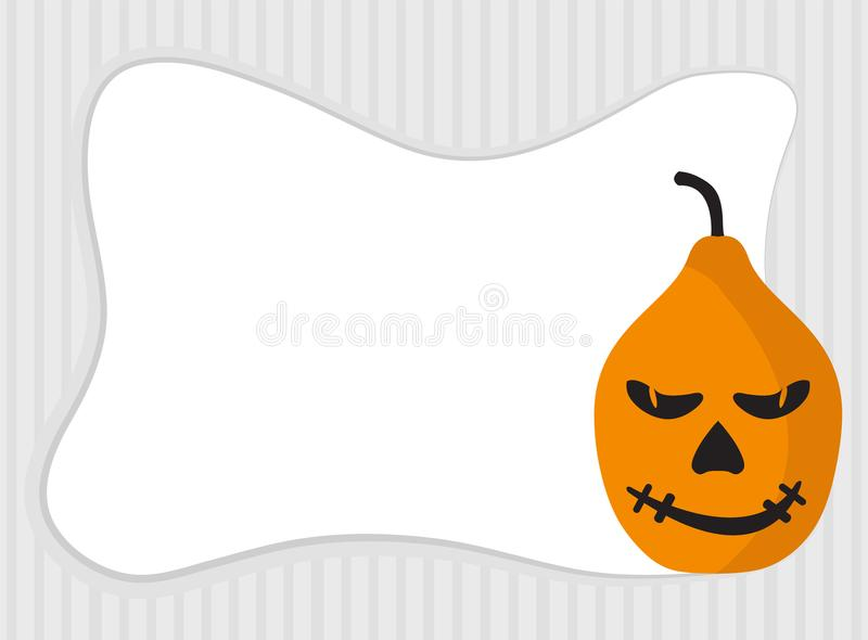 Рамка тыквы хеллоуина с космосом экземпляра иллюстрация вектора