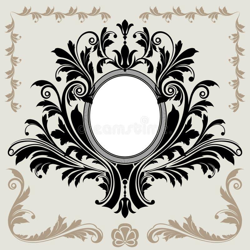рамка украшения флористическая иллюстрация вектора