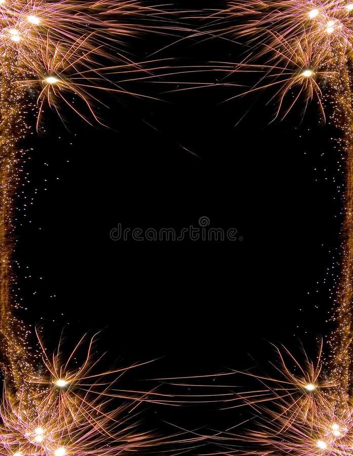 рамка феиэрверка торжества стоковое изображение