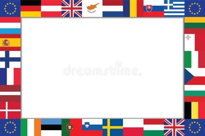 Рамка флагов стран EU стоковое фото rf