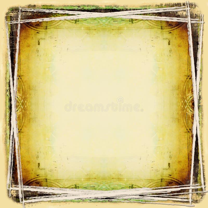 рамка фона детальная grungy иллюстрация вектора