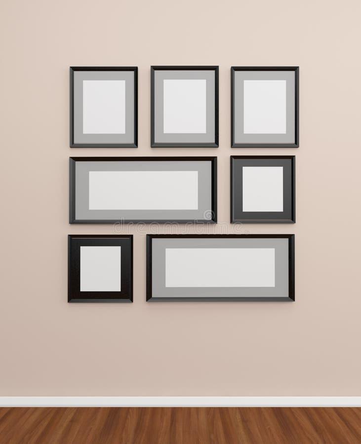 Рамка фото на стене иллюстрация вектора