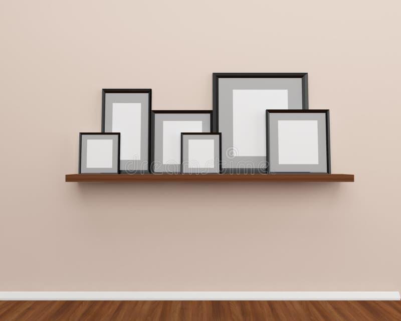 Рамка фото на стене иллюстрация штока