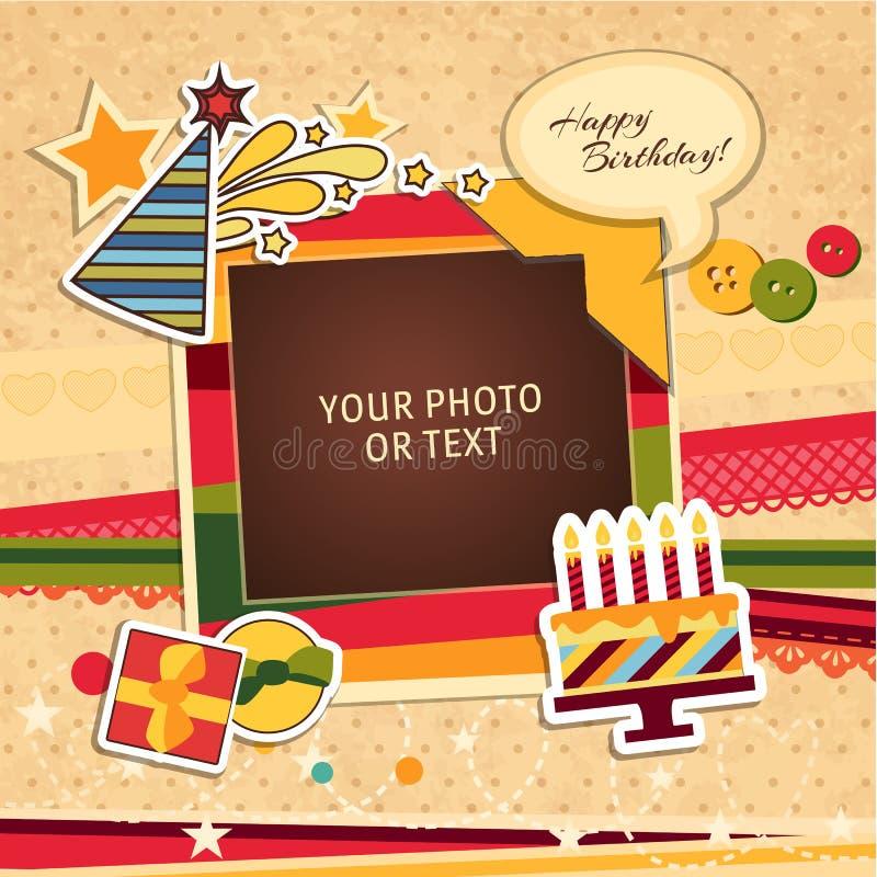 Рамка фото дня рождения иллюстрация штока