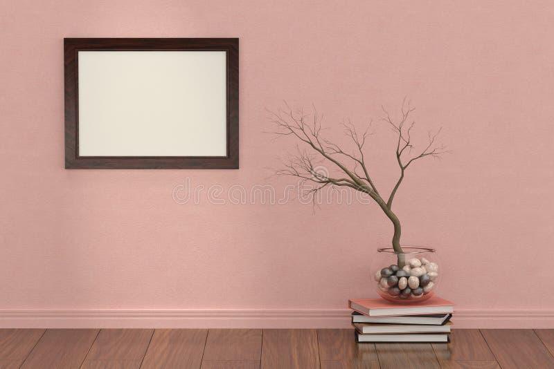 Рамка фото с заводами внутри помещения иллюстрация 3d иллюстрация вектора