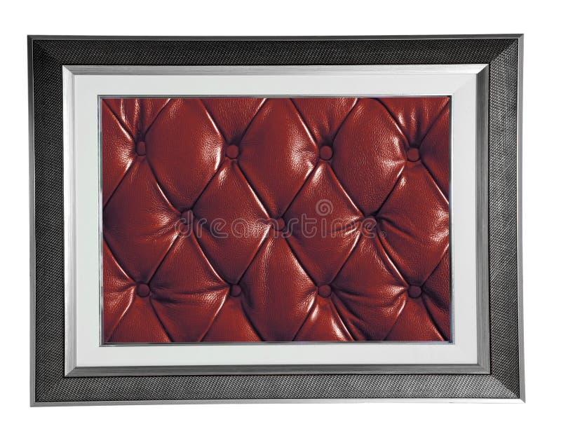 Рамка фото с красной кожей стоковые изображения rf