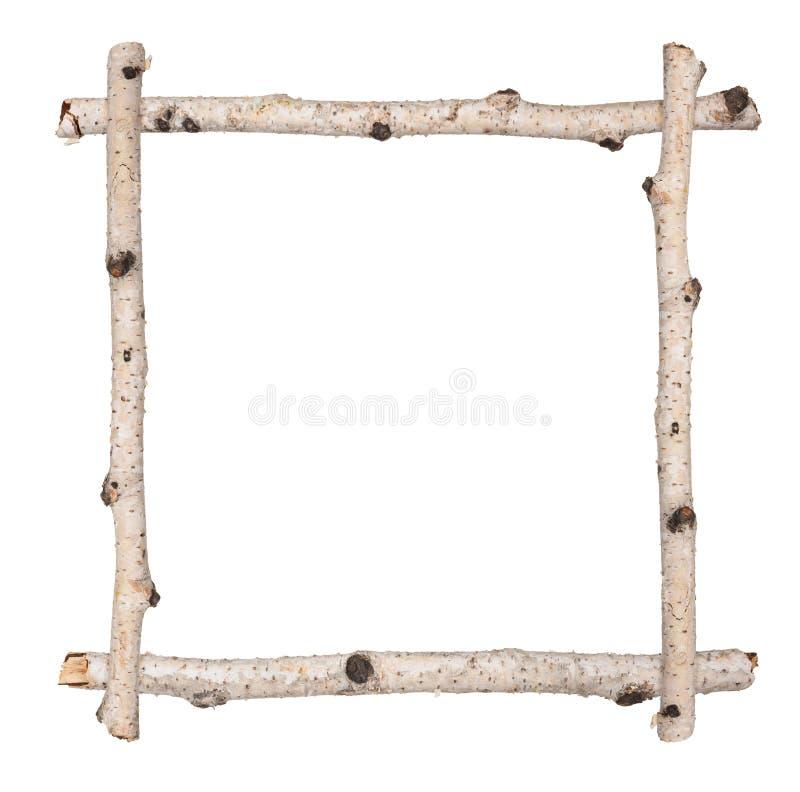 Рамка хворостины березы стоковое изображение