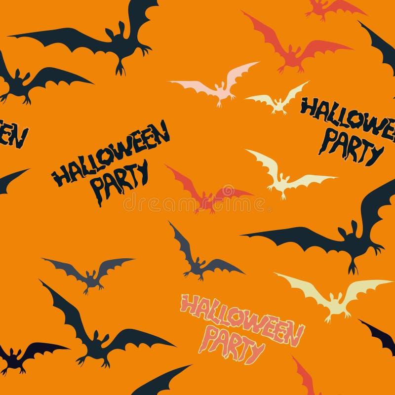 Рамка хеллоуина с летучей мышью летания на темной предпосылке иллюстрация вектора