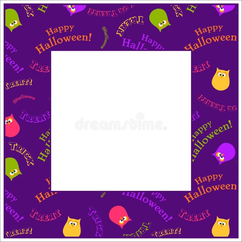 Рамка хеллоуина иллюстрация вектора