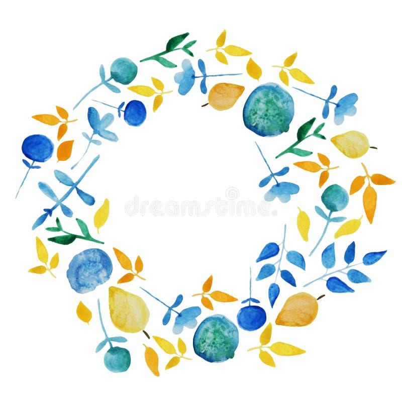 Рамка цветка акварели иллюстрация штока
