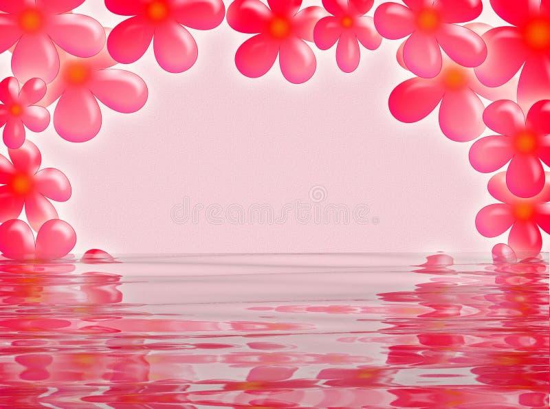Рамка цветка в воде стоковое изображение rf