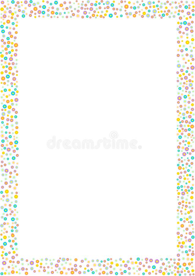 Рамка цветка Иллюстрация вектора границы цветения иллюстрация вектора