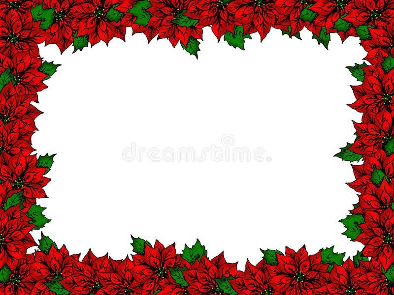рамка цветка рождества иллюстрация вектора