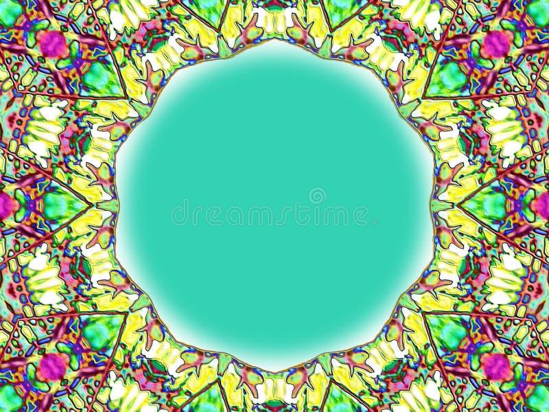 Рамка цветного стекла стоковое изображение rf