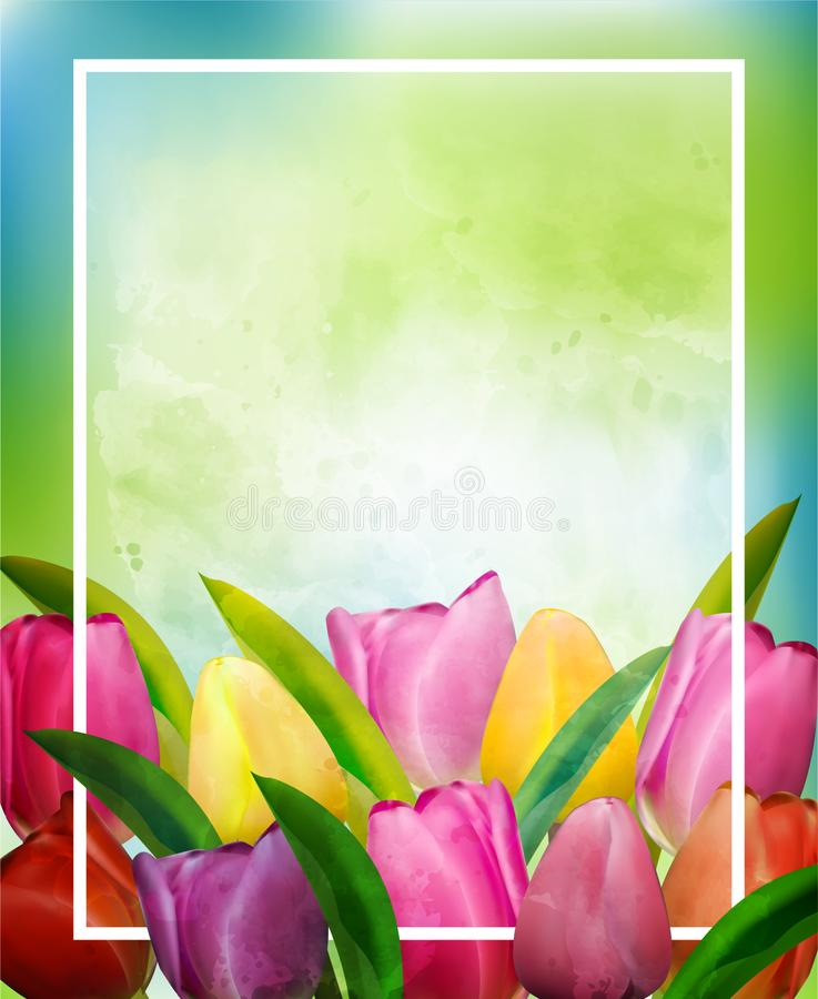 Рамка шаблона для поздравительной открытки на Международный женский день или День матери также вектор иллюстрации притяжки corel иллюстрация вектора