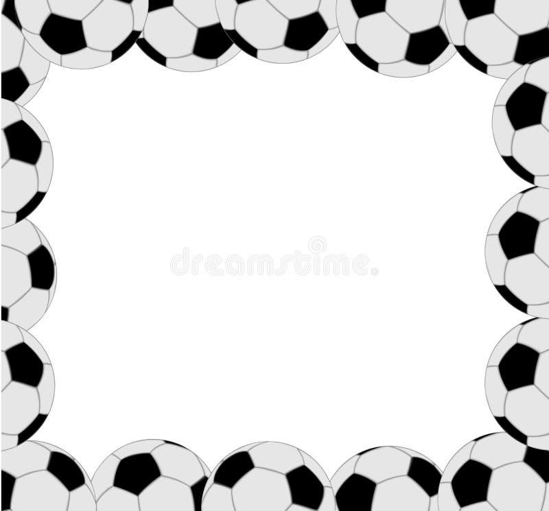 Рамка шарика футбола иллюстрация вектора