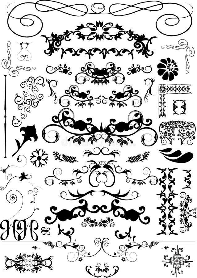 рамка элементов флористическая иллюстрация штока
