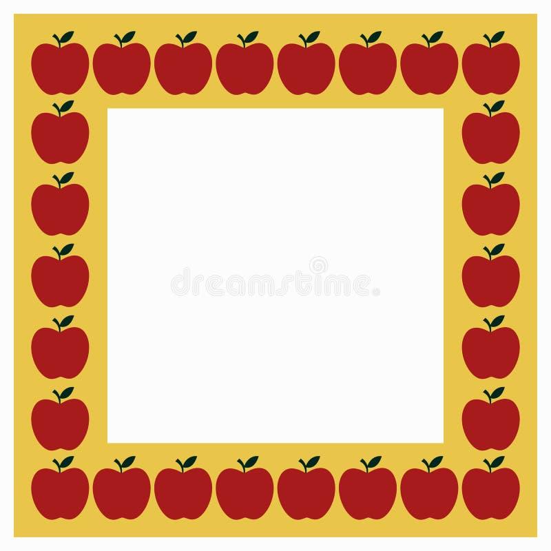 Рамка Яблока иллюстрация штока