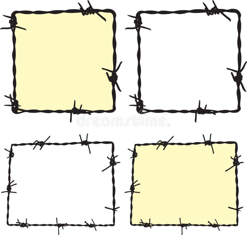 Рамка Barbwire бесплатная иллюстрация