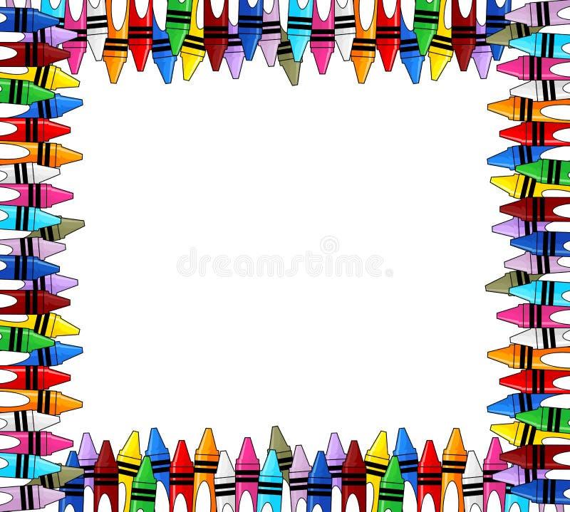 Рамка Crayons бесплатная иллюстрация