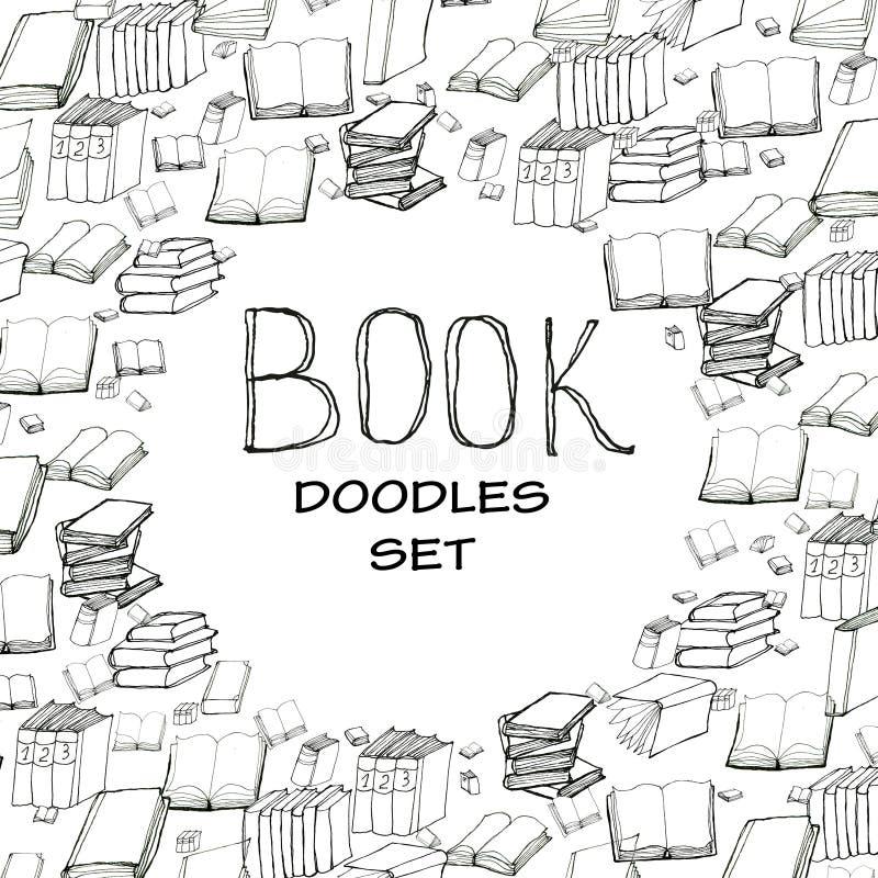 Рамка doodle книги иллюстрация вектора